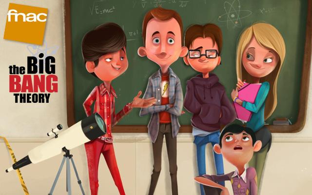 Exposition The Big Bang Theory à la FNAC des Halles
