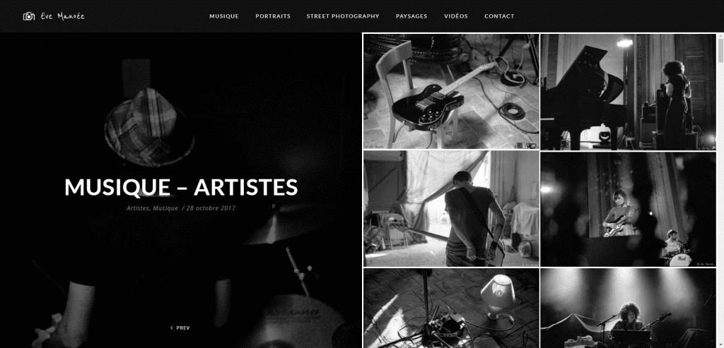 evemanoee.fr - Galerie Musique & artistes